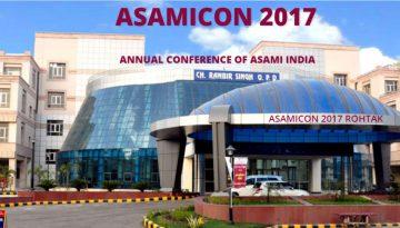 ASAMICON – 2017, Rohtak  8-10 Dec 2017